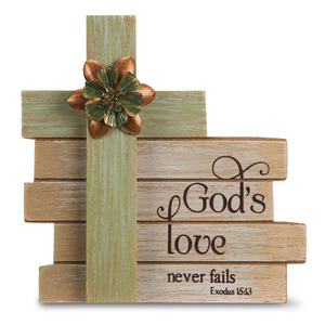 "God's Love by Simple Spirits - 6"" Cross Plaque"