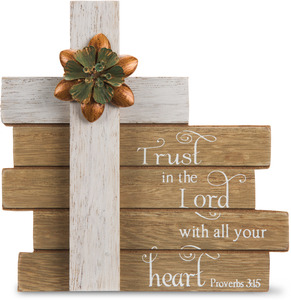 "Trust in the Lord by Simple Spirits - 6"" Cross Plaque"