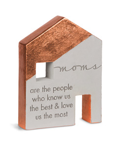 "Mom by Sweet Concrete - 4.75"" x 1"" x 6"" Cement House"