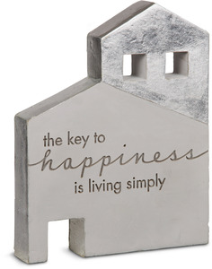 "Happiness by Sweet Concrete - 6"" x 1"" x 7.5"" Cement House"
