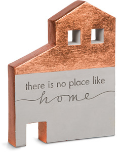 "No Place Like Home by Sweet Concrete - 6"" x 1"" x 7.5"" Cement House"