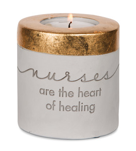 "Nurse by Sweet Concrete - 3"" x 3"" Cement Candle Holder"