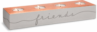 "Friends Welcome by Sweet Concrete - 13.75"" x  x 2.25"" 3.75"" Cement Candle Holder"