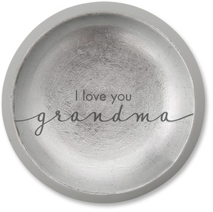 "Grandma by Sweet Concrete - 5"" x 1"" Cement Keepsake Dish"