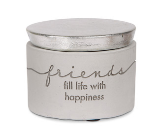 "Friends by Sweet Concrete - 3"" x 2.25"" Cement Keepsake Box"