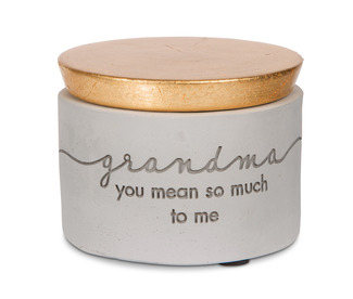 "Grandma by Sweet Concrete - 3"" x 2.25"" Cement Keepsake Box"