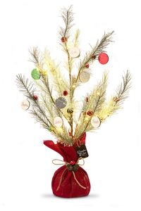 "Christmas by Branches of Love - 27"" Tree with Ornaments"