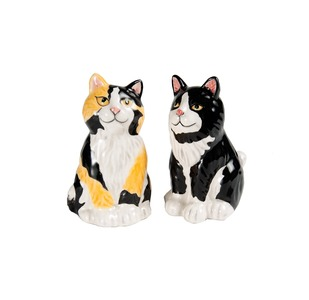 Callie & Jacquelyn - Calicos by Rescue Me Now - Cat Salt & Pepper Shaker