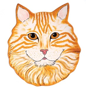 "Julius - Orange Tabby by Rescue Me Now - 11.5"" Cat Plate"