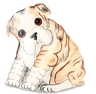 "Winston - Elnglish Bulldog by Rescue Me Now - 7.5"" Small Puppy Vase"