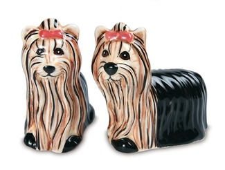 Ralphie & Sherri Kay -Yorkie by Rescue Me Now - Dog Salt & Pepper Shaker Set