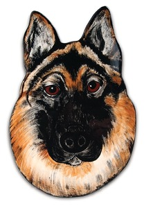 "Rocky - German Shepherd by Rescue Me Now - 11.5"" Dog Plate"