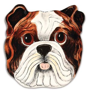 "Winston - English Bulldog by Rescue Me Now - 10"" Dog Plate"