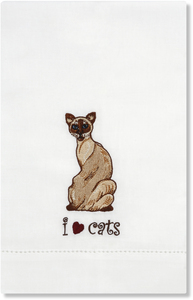 Theo - Siamese by Rescue Me Now - Tea Towel