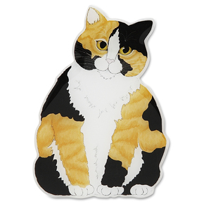 "Callie - Calico by Rescue Me Now - 2""x1.75"" Magnet"
