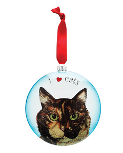 "MaryBeth - Tortoise Shell by Rescue Me Now - 5"" Glass Christmas Ornament"