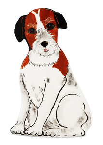 "Chloe - Jack Russell by Rescue Me Now - 7.5"" Small Dog Vase"