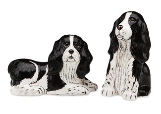 "Flame & Crystal- Spr Spaniel by Rescue Me Now - 3.25"" Dog S & P Shaker Set"