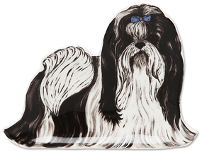 "Miss Dixie Monroe - Shih Tzu by Rescue Me Now - 5.25"" Dog Spoon Rest"
