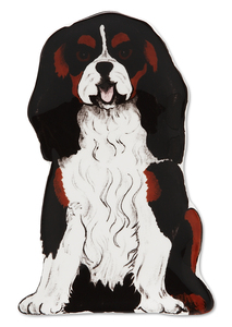 "Devilin - Cavalier by Rescue Me Now - 7.25"" Dog Spoon Rest"