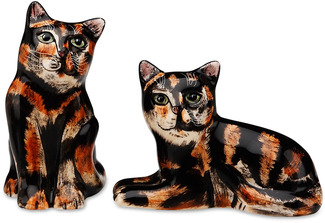 "MaryBeth & Jazzi-Tortoiseshell by Rescue Me Now - 3.25"" Cat S&P Shaker"