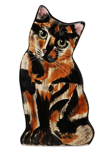 "Jazzi - Tortie Kitten by Rescue Me Now - 8.5"" Small Cat Vase"