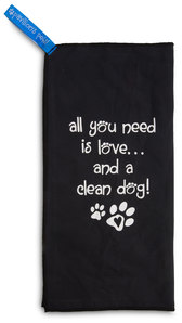 "Clean Dog by Pavilion's Pets - 6""x12"" Micro Fiber Cleaning Cloth"