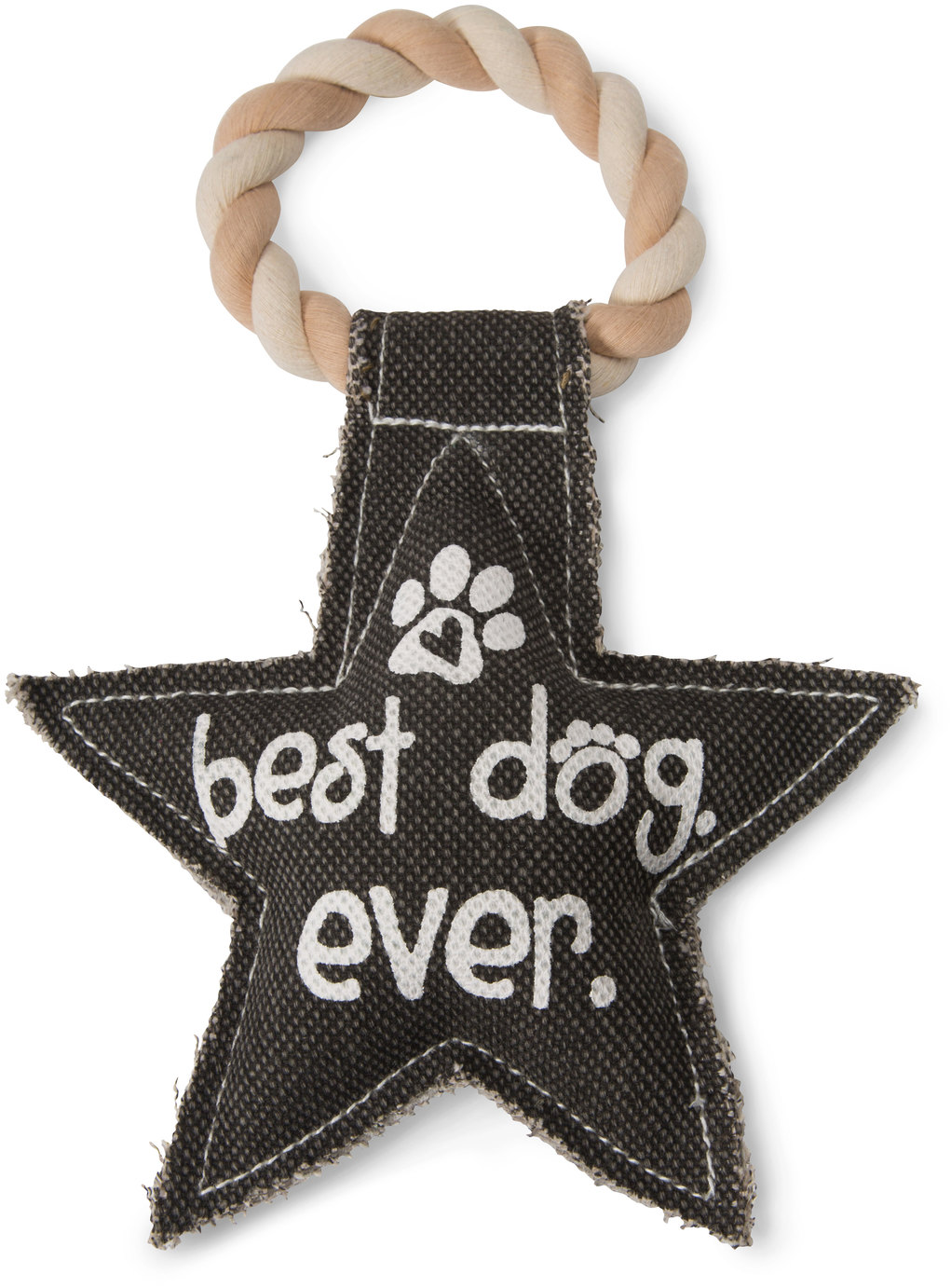 Best Dog Ever by Pavilion's Pets - Best Dog Ever Star Shaped Sturdy Canvas Tug of War Dog Toy