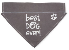 "Best Dog Ever by Pavilion's Pets - 12""x8"" Canvas Slip on Pet Bandana"