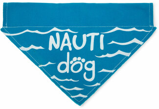 "Nauti Dog by Pavilion's Pets - 12""x8"" Canvas Slip on Pet Bandana"