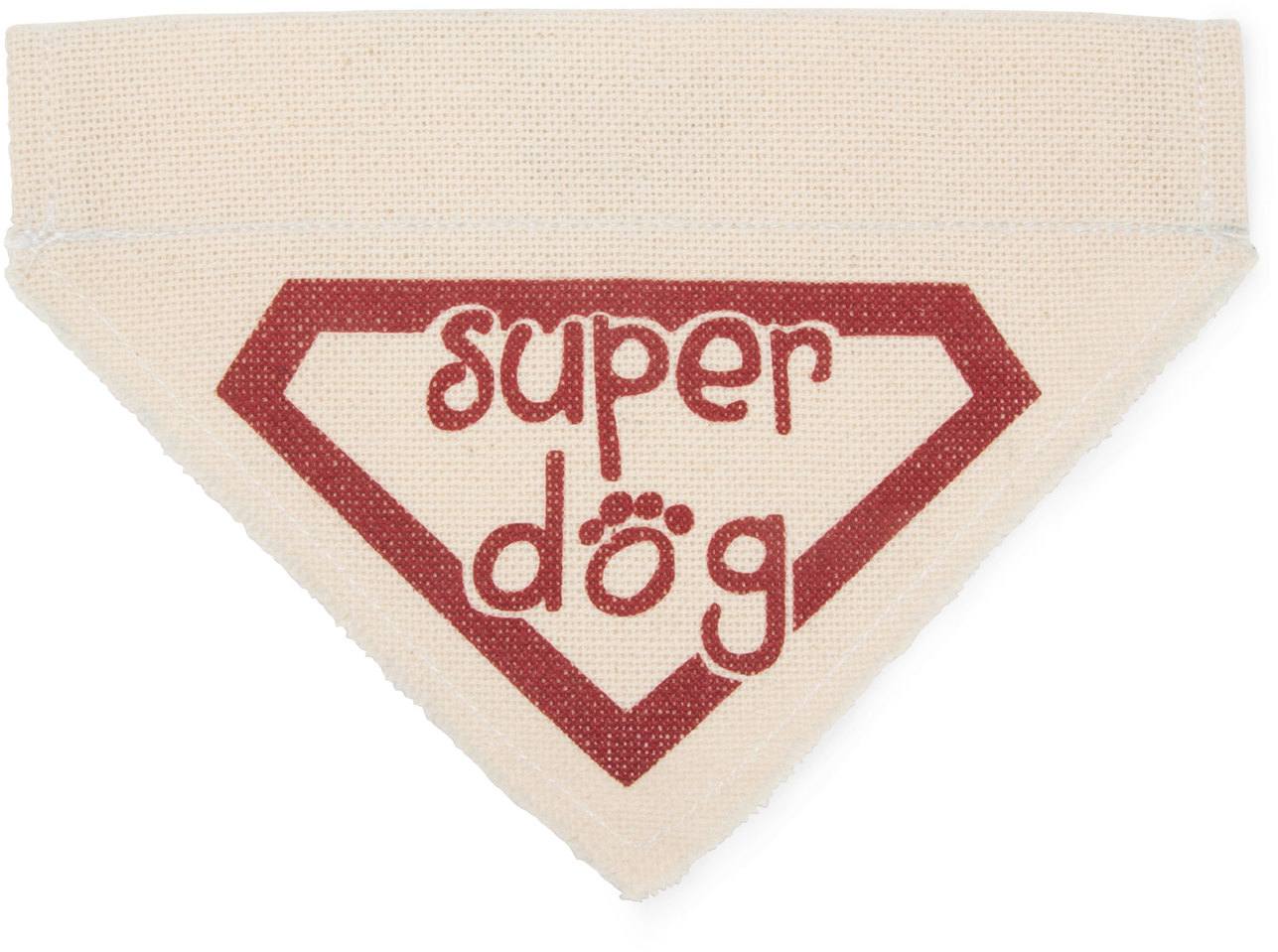 Super Dog by Pavilion's Pets - Red Super Dog Canvas Small Dog Bandana