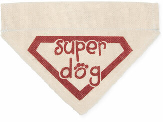 "Super Dog by Pavilion's Pets - 7""x5"" Canvas Slip on Pet Bandana"