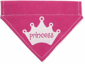 "Princess by Pavilion's Pets - 7""x5"" Canvas Slip on Pet Bandana"