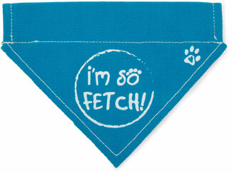 "So Fetch by Pavilion's Pets - 7""x5"" Canvas Slip on Pet Bandana"