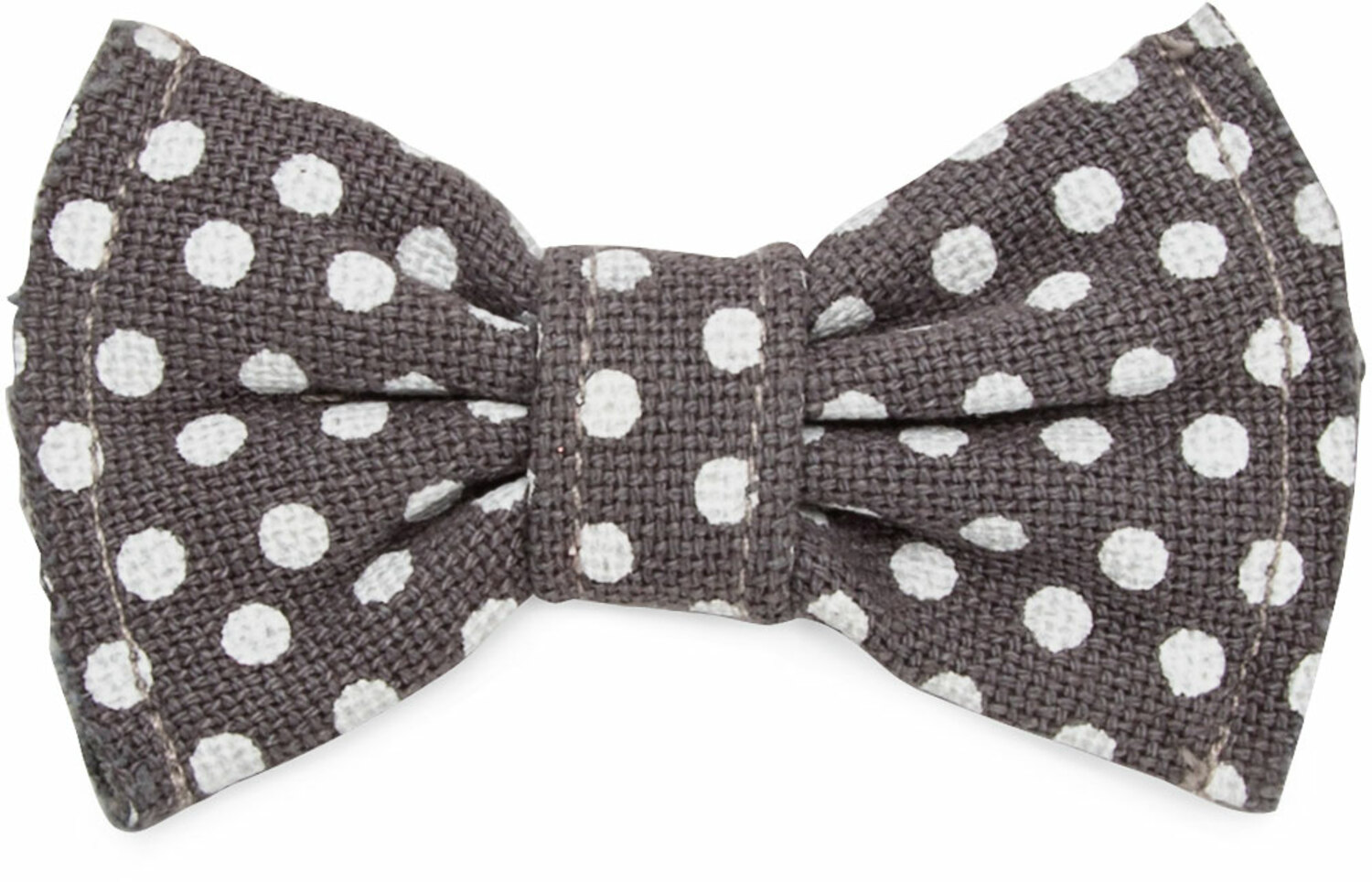 Polka Dots Small by Pavilion's Pets - Gray & White Canvas Polka Dot Small Dog Bow Tie