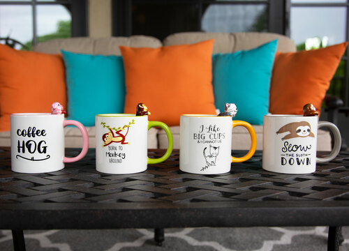 Pig Pink 17oz Dolomite Coffee Cup Mug Pavilion Gift Company Coffee Hog