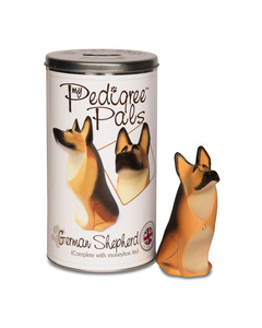 "German Shepherd by My Pedigree Pals - 5.75"" Dog  Figurine/Coin Bank"