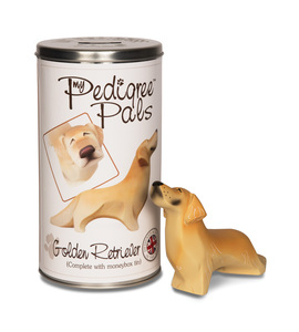 "Golden Retriever by My Pedigree Pals - 6.25"" Dog  Figurine/Coin Bank"