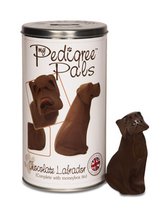 "Chocolate Labrador by My Pedigree Pals - 4.75"" Dog  Figurine/Coin Bank"
