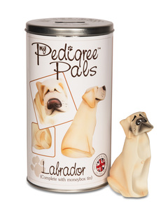 "Yellow Labrador by My Pedigree Pals - 4.75"" Dog  Figurine/Coin Bank"