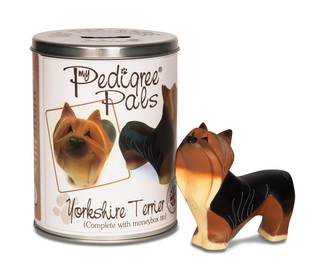 "Yorkie by My Pedigree Pals - 4"" Dog  Figurine/Coin Bank"