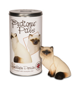 "Himalayan by My Pedigree Pals - 4.25"" Cat  Figurine/Coin Bank"