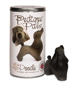 "Poodle by My Pedigree Pals - 4.5"" Dog  Figurine/Coin Bank"