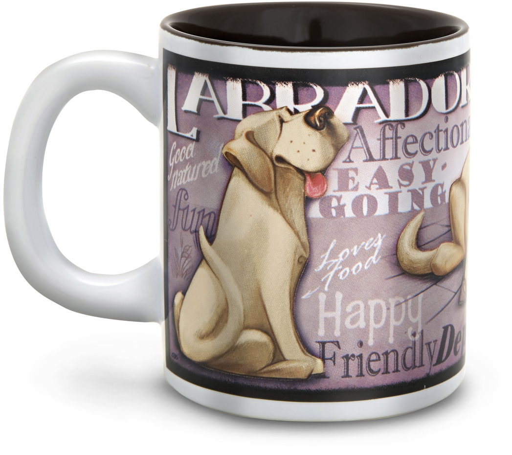 "Yellow Labrador by My Pedigree Pals - Yellow Labrador - 4"" - 12oz. Mug"