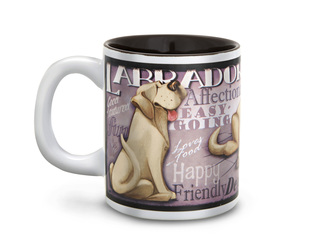 "Yellow Labrador by My Pedigree Pals - 4"" - 12oz. Mug"