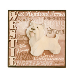 "Westie by My Pedigree Pals - 8"" Freestanding Wall Art"
