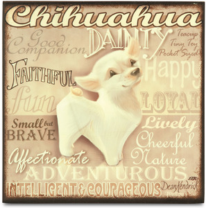 "Chihuahua by My Pedigree Pals - 8"" Freestanding Wall Art"
