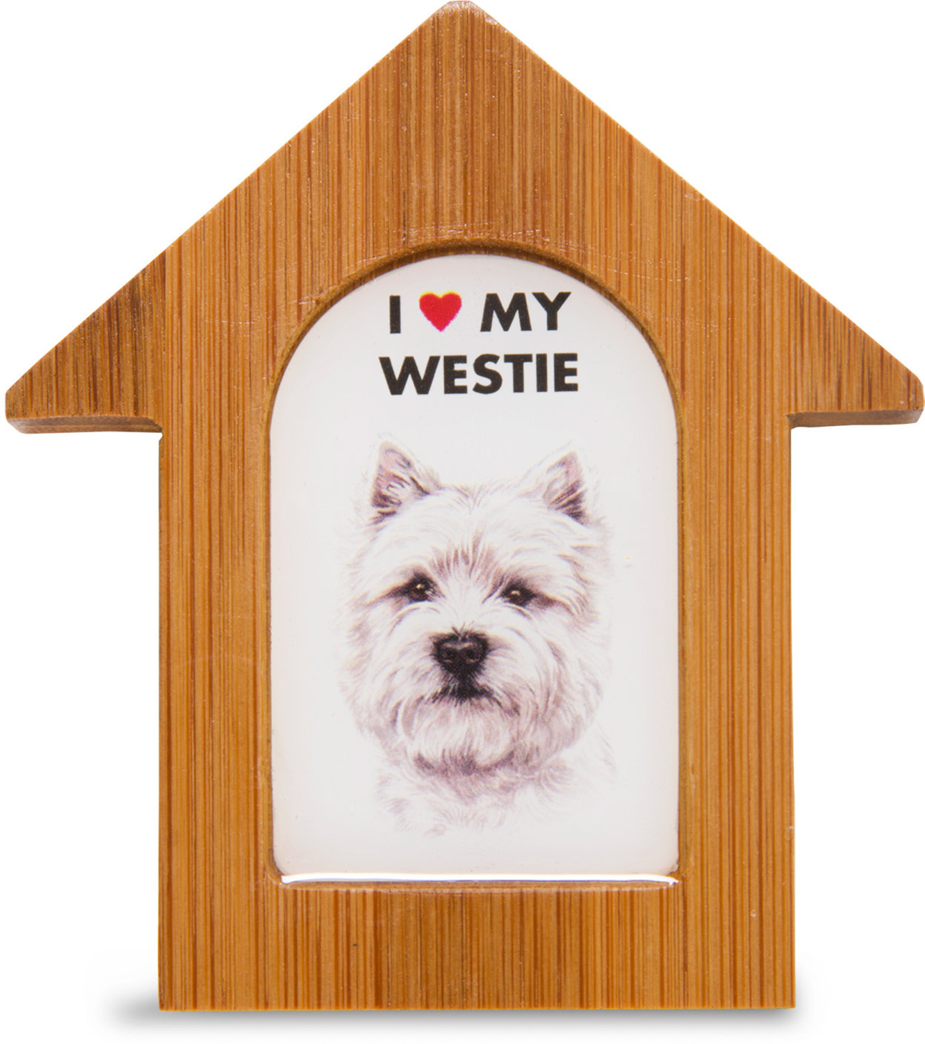 "West Highland Terrier by Waggy Dogz - West Highland Terrier - 3.5"" Self-Standing Magnet"
