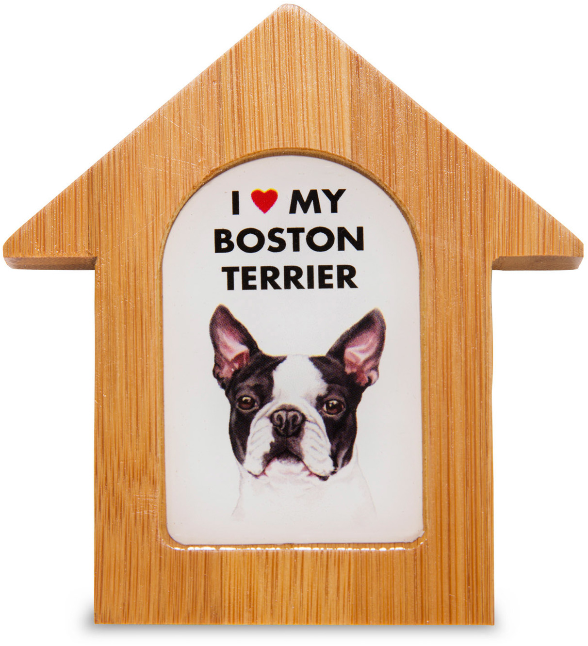 "Boston Terrier by Waggy Dogz - Boston Terrier - 3.5"" Self-Standing Magnet"