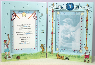 "Little All Star by Cute as a Button - 7""x9"" Photo Frame Boy"